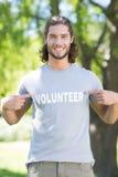 Happy volunteer in the park Stock Photos
