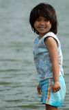 Happy Wader. A cute, happy girl goes wading Royalty Free Stock Photos