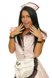 Happy waitress Royalty Free Stock Photography