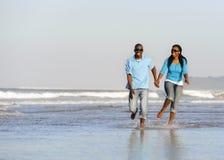 Happy walking couple Stock Photo