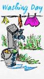 Happy Washing day Royalty Free Stock Image