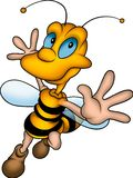 Happy wasp. Little Bee 13 - High detailed and coloured illustration - Happy wasp royalty free illustration