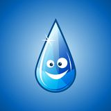 Happy water drop Stock Photography