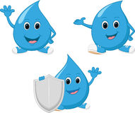 Happy water drop cartoon Royalty Free Stock Image
