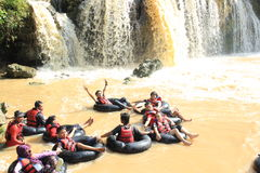 Happy Water Rafting Stock Photos