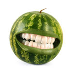 Happy watermelon Royalty Free Stock Photography