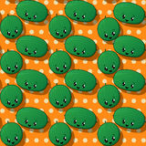 Happy watermelon pattern Stock Image