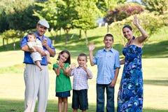 Happy Waving Family Royalty Free Stock Image