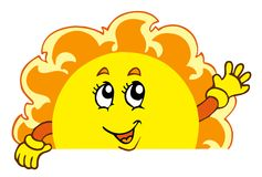 Happy waving Sun Royalty Free Stock Photo