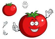 Happy waving tomato with a cute smile Royalty Free Stock Image