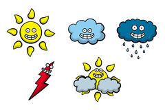 Happy weather icons Stock Image