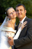 Happy wedding couple Stock Photography