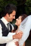 Happy Wedding Couple Royalty Free Stock Photography