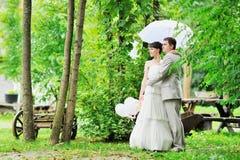 Happy wedding couple royalty free stock photos