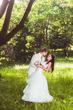Happy wedding couple Royalty Free Stock Photos