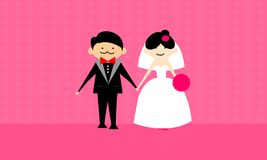 Happy wedding couple vector Stock Photos