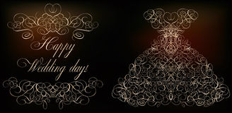 Happy Wedding day banner Royalty Free Stock Photography