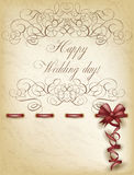 Happy Wedding day old paper Stock Photography