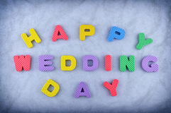 Happy wedding day Stock Image