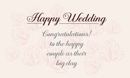 Happy wedding greeting card design style Royalty Free Stock Photos