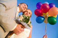 Happy wedding pair Royalty Free Stock Image