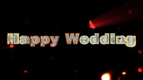 Happy Wedding and rose heart exploding stock video footage