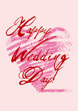 Happy wedding's day Stock Images