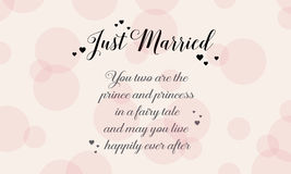 Happy wedding style background greeting card Stock Photos