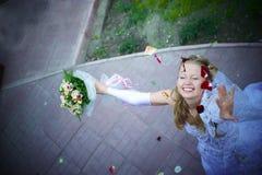 Happy Wedding Wife Stock Photo
