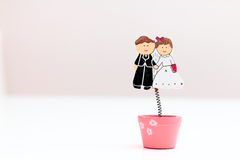 Happy weddings toys Royalty Free Stock Photography