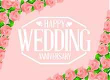 Happy weeding anniversary seal Royalty Free Stock Images