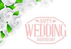 Happy weeding anniversary stamp Stock Image