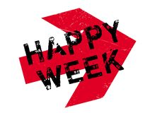 Happy Week rubber stamp Stock Photos