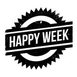 Happy Week rubber stamp Stock Images