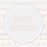 Happy weekend background1 Stock Photo