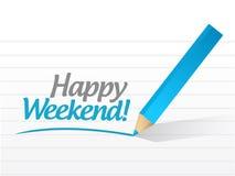 Happy weekend message illustration design Stock Photo
