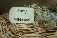Happy weekend Stock Image