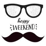 Happy weekend. Positive handwritten design cards, t-shirt, posters, social media Stock Photos