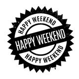 Happy Weekend rubber stamp Stock Image