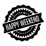 Happy Weekend rubber stamp Royalty Free Stock Photo