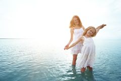 Happy weekend by the sea royalty free stock images