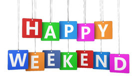 Happy Weekend Sign Tags Royalty Free Stock Photo
