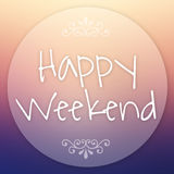 Happy weekend Summer Background. Royalty Free Stock Photo