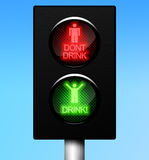 Happy Weekend Traffic Light Royalty Free Stock Photo