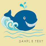 Happy whale Stock Images