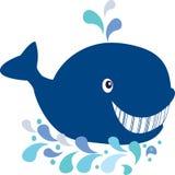 Happy whale. Sea, smile, splash Stock Photo