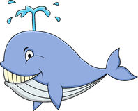 Happy whale cartoon Royalty Free Stock Photo