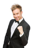 Happy white collar fists gesturing Royalty Free Stock Photo