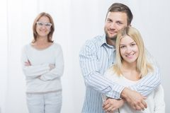 Happy wife with husband Stock Images