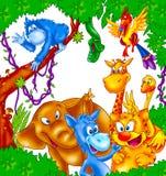 Happy wild animals Stock Photos